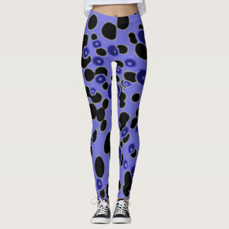 Leggings Purple Dots