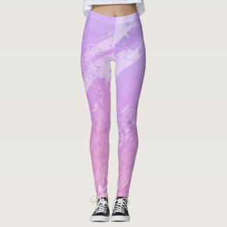Leggings Purple Grunge