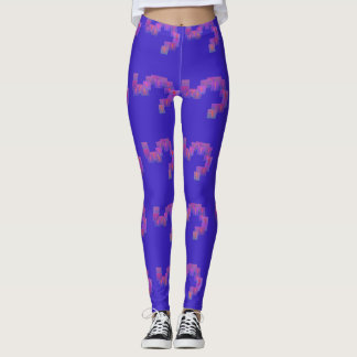 Leggings Púrpura con las pequeñas polainas anaranjadas de