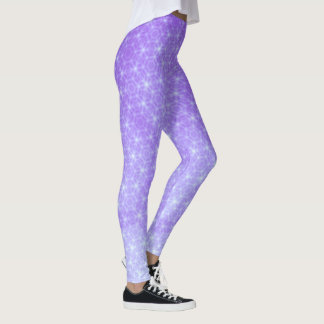 Leggings Púrpura geométrica y lavanda Ombre
