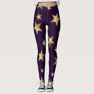 púrpura y polainas metálicas de la moda de las