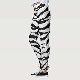 Leggings Rayas animales blancas y negras de los tigres