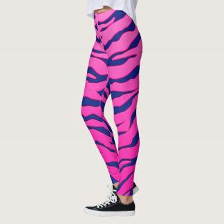 Leggings Rayas animales rosadas y azules de los tigres