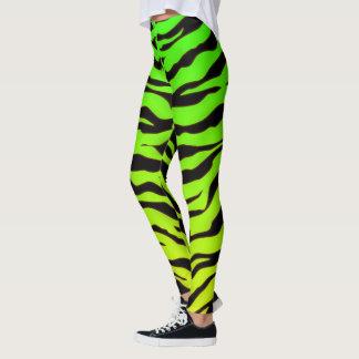 Leggings Rayas animales verdes y negras de los tigres