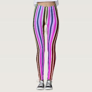 Leggings Rayas de la moda de los años 70 del vintage