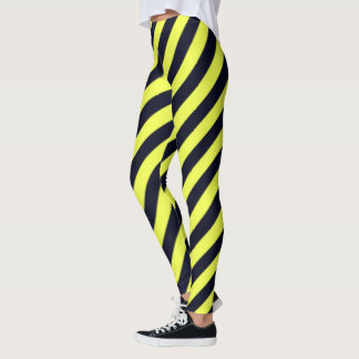 Leggings Rayas diagonales negras y amarillas