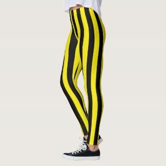 Leggings Rayas negras y amarillas verticales