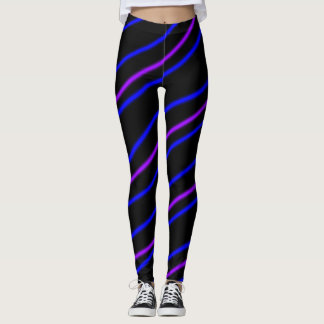 Leggings Rayas púrpuras