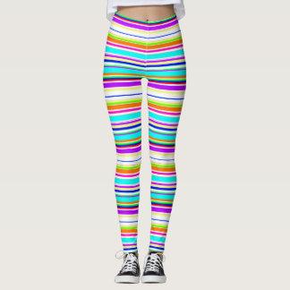 """Leggings Refresque el modelo de las """"rayas multicoloras"""""""