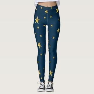 Leggings Refresque las estrellas en modelo azul marino