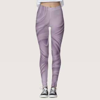 Leggings Rizos sobre ilustraciones púrpuras