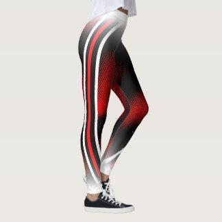 Leggings rojo+blanco+negro