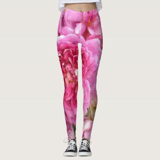 Leggings Rosas rosados, florales