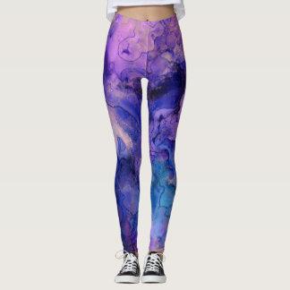 Leggings Salpicaduras púrpuras bohemias de la tinta