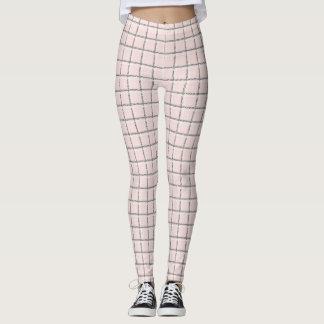 Leggings Se ruboriza el modelo sutil rosado de la tela