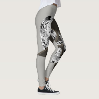Leggings Shuriken gris blanco negro
