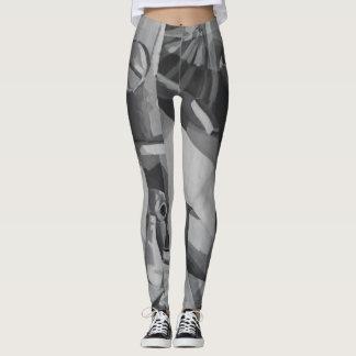 Leggings Sombras del extracto gris