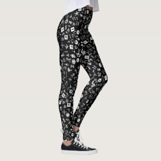 Leggings Symbolicon blanco y negro