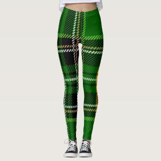Leggings Tela escocesa verde