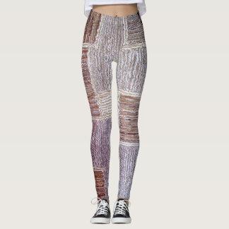 Leggings Textura de cuero original del arte de la alfombra