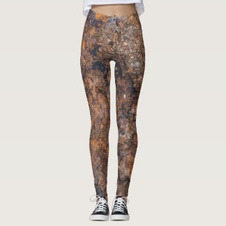 Leggings textura de la piedra oxidada
