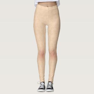 Leggings Textura del estilo de la piel con las polainas de