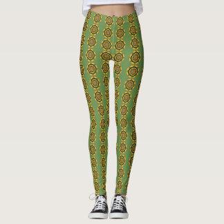Leggings Verde abstracto #2 de las polainas