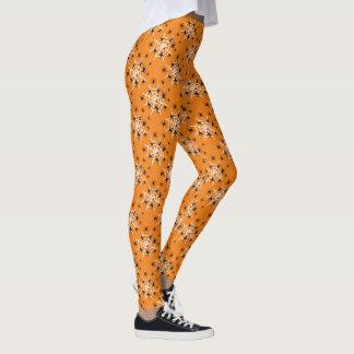 Leggings Web de araña anaranjado