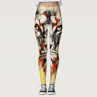 Leggings Yoga colorida del elemento de dios del león