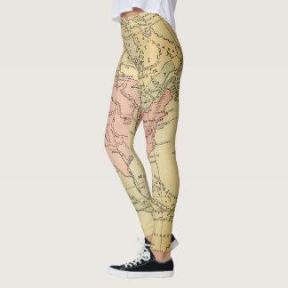 Leggings Yoga de las polainas del mapa de los E.E.U.U. del