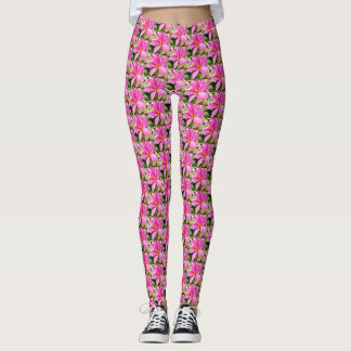 Leggings Yoga rosada perfecta del Plumeria
