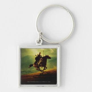 LEGOLAS GREENLEAF™ en caballo Llavero Cuadrado Plateado