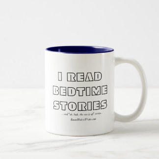 Leí los cuentos (la taza) taza de café de dos colores