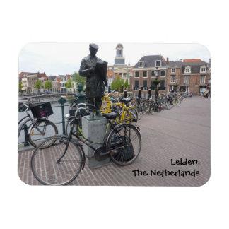 Leiden (estatua y bicis) imán