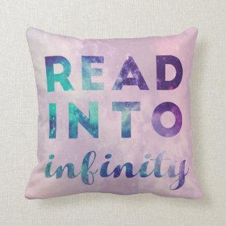 Leído en infinito cojín decorativo