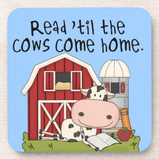 Leído 'hasta las vacas vuelva a casa posavasos
