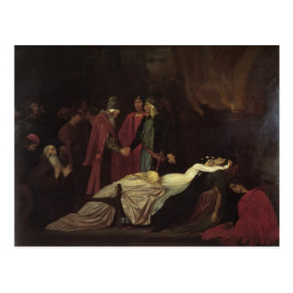 Leighton-Reconciliación de Federico de Montagues Postal