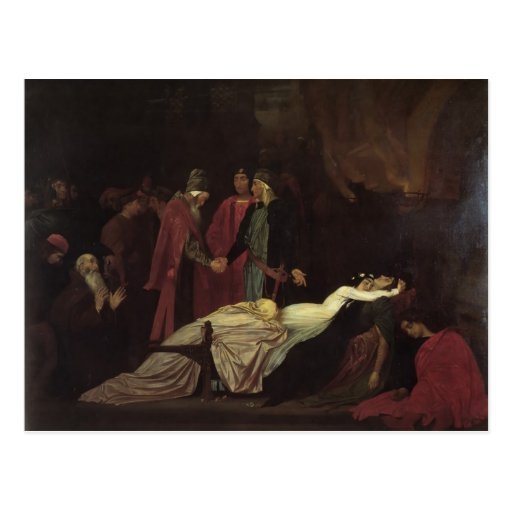 Leighton-Reconciliación de Federico de Montagues Tarjetas Postales