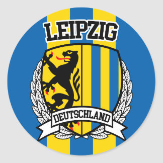 Leipzig Pegatina Redonda