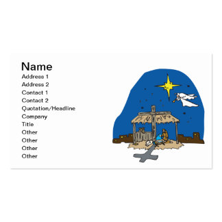 Lejos en un pesebre tarjetas de visita
