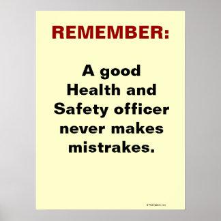 Lema chistoso de salud y de la seguridad posters