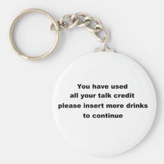 lema de consumición divertido llavero redondo tipo chapa