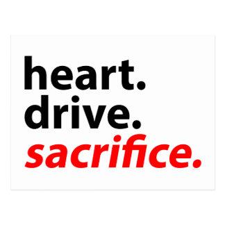 Lema de la motivación de la aptitud del sacrificio postal