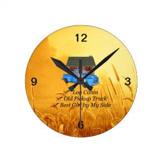 Lema de la recogida de la CAMISETA Reloj Redondo Mediano