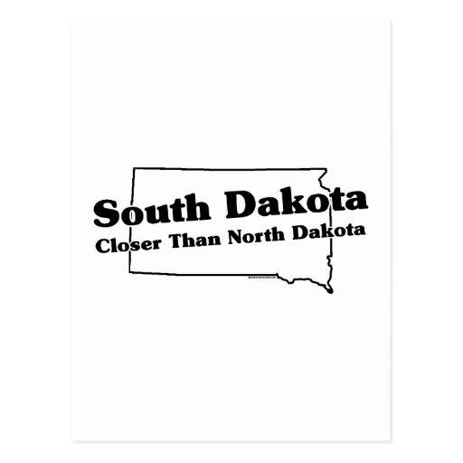 Lema del estado de Dakota del Sur Tarjeta Postal