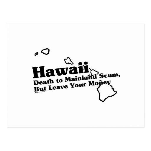 Lema del estado de Hawaii Postal