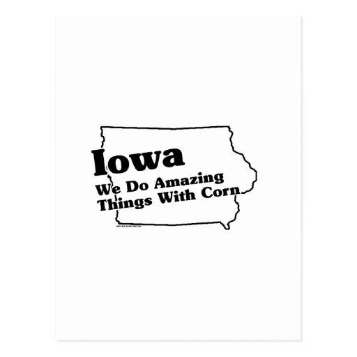 Lema del estado de Iowa Tarjetas Postales