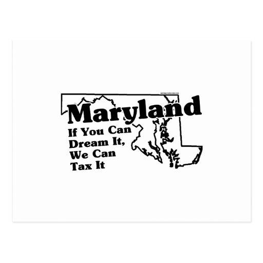 Lema del estado de Maryland Tarjeta Postal