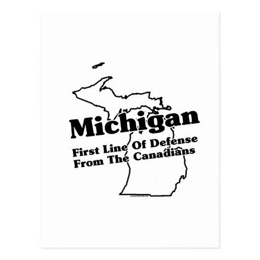 Lema del estado de Michigan Postales