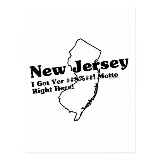 Lema del estado de New Jersey Tarjeta Postal